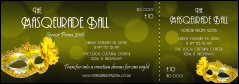 High Quality Masquerade Ball 2 Event Ticket  Ball Ticket Template