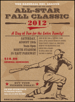 All-Star Retro Baseball Flyer