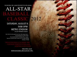 All-Star Retro Baseball Flyer