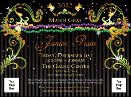 Mardi Gras Beads Flyer