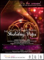 Symphony Holiday Pops Logo Flyer