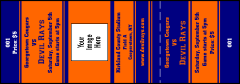 Sports Ticket 002 Blue & Orange