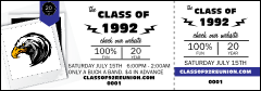 Class Reunion Mascot Blue Event Ticket