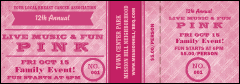 Breast Cancer Awareness Plaid Event Ticket
