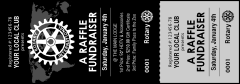 Rotary World Landscape Black and White Event Ticket