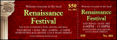 Renaissance Event Ticket