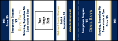 Sports Ticket 001 Navy & Gold