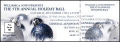 Christmas Ornament Blue Reserved Event Ticket