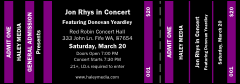 Purple and Black General Admission Ticket