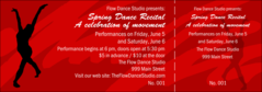 dance event ticket templates event ticket printing