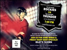 Sporting event invitations tickets invitation printing hockey badge red invitation stopboris Choice Image