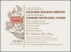 Fashion invitation templates invitation printing wedding flower motif invitation stopboris Choice Image