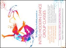 Dance invitations ticket printing invitation printing modern dance white invitation stopboris Gallery