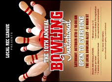 Bowling League Invitation