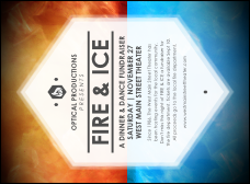 Fire and Ice Invitation