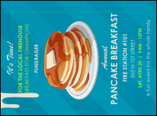 Pancake Stack Invitation