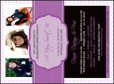 Sweet Sixteen Purple Chevron Invitation