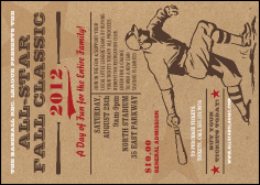 All-Star Retro Baseball Postcard