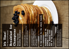 Pancake Breakfast Postcard