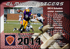 Football Schedule Postcard