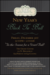 Classic Black Pinstripe Poster