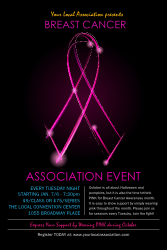 Breast Cancer Ribbon Sparkle Poster