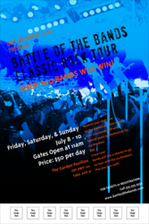 Rock Concert Blue Poster