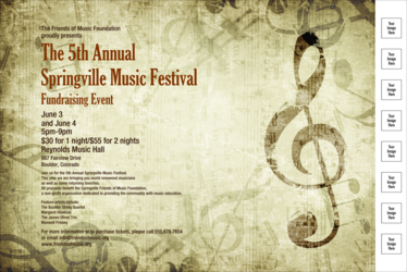 Music Festival 2 Poster with Image Upload