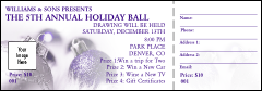 Christmas Ornament Purple Raffle Ticket