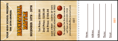 Basketball Court Raffle Ticket