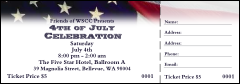 American Flag Raffle Ticket 004