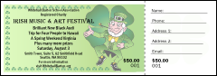 St. Patrick's Day Raffle Ticket 001