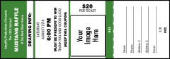 Your Image Raffle Ticket 001 (Green)
