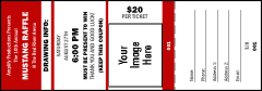 Your Image Raffle Ticket 001 (Red)