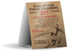 All-Star Retro Baseball Table Tent