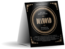 Diamonds Black Table Tent