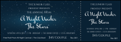 Star Theme Event Ticket