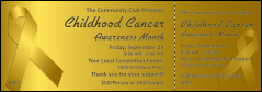 Childhood Cancer Awareness Month Event Ticket
