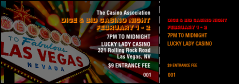 Las Vegas Casino Event Ticket