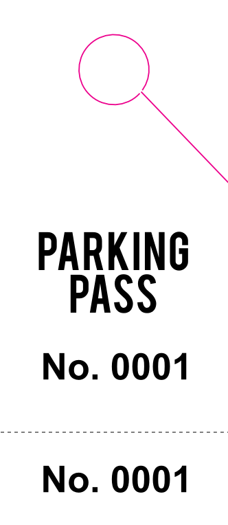 Basic Parking Pass (100 pack)