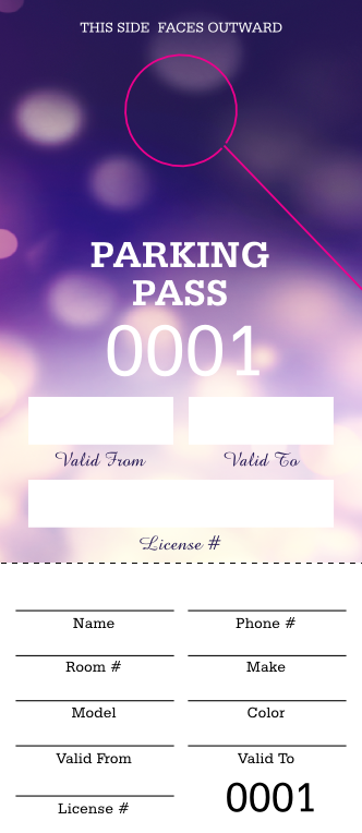Abstract Lights Parking Permit