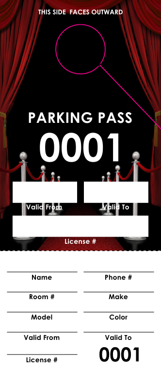 Red Carpet Parking Pass (100 pack)