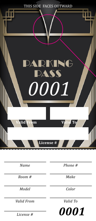 Roaring 20s Parking Pass (100 pack)