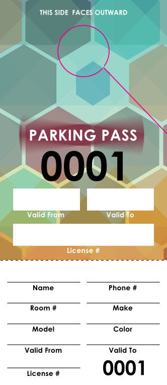 Music Fest Parking Pass (100 pack)