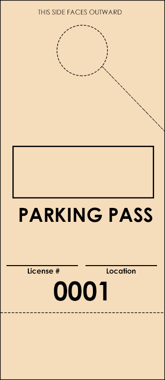 Ivory Parking Plus Permit (100 pack)