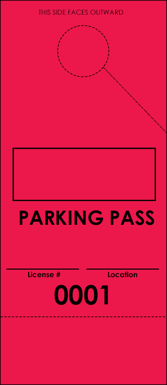 Red Parking Plus Permit (100 pack)