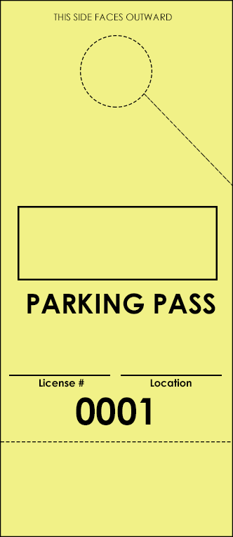 Yellow Parking Plus Permit (100 pack)