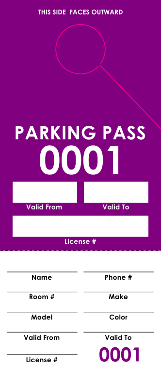 Purple Parking Permit