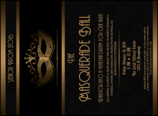 Masquerade Ball 3 Invitation