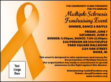 Orange Ribbon Invitation